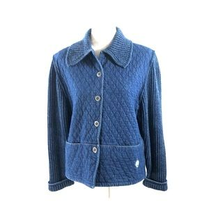 Blue Willis Blue Denim Quilted Jacket Size M
